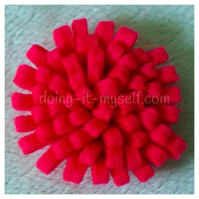 fringed felt flower
