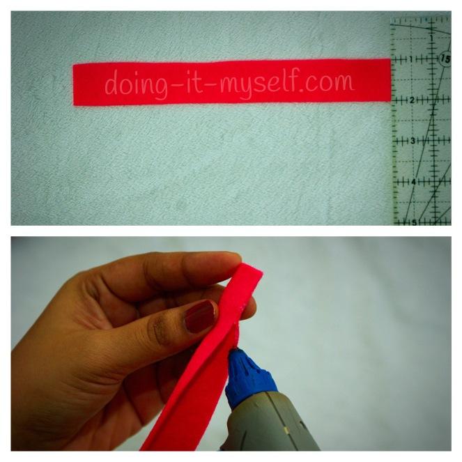 making fringed felt flower_cut stip